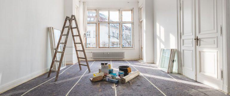 Zimmer-in-Renovierung