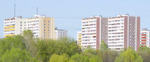 Wohnungen und Bäume